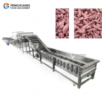 Automatic Cassava Sweet Potato Grading Size and Cleaning machine