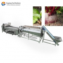 Red Beetroot potato fruit high pressure Brush Cleaning Washing and Grader Sorting Machine
