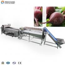 Red Bretroot fruit high pressure Brush Cleaning Washing and Grader Sorting Machine