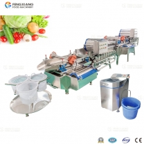 XWA-1300 Automatic Vegetable & Fruit Washing and Drying  Processing Machine