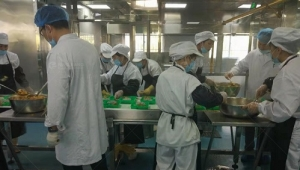 Fengxiang catering equipment participates in the production of a food line in a food company in Ningxia