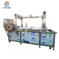 Automatic lifting type fruit and vegetable blanching machine