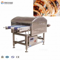 Double track chicken breast meat slicer  salmon fish cutting machine