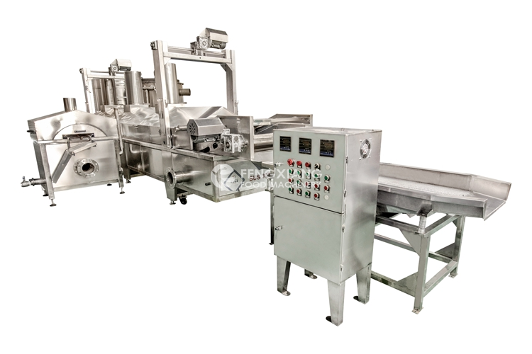 potato chips frying machine processing line