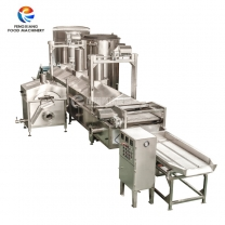 Industrial continuous frying production line