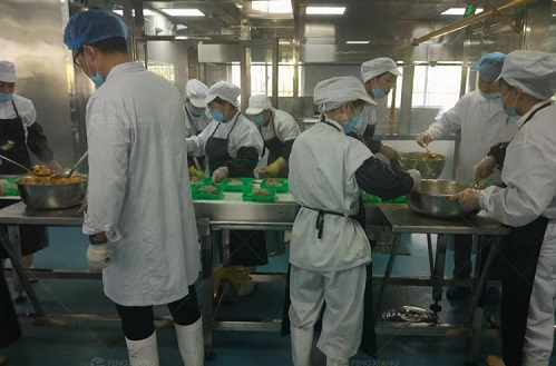Food line turning conveyor