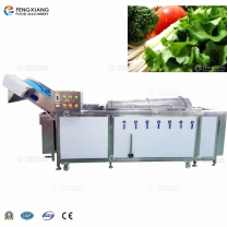 Roller type vegetable fruit washing machine