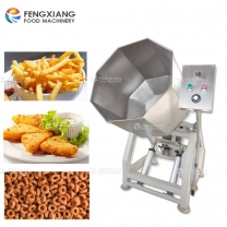 Octagonal  Drum Fried Food Potato Chips snacks Seasoning Machine