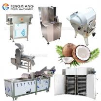 Industrial Coconut shelling peeling cutting washing drying machine processing line