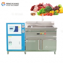 Refrigeration Vegetable Bubble Washing Machine Cooling Water Seafood Meat Cleaning Machine