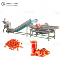 Tomato Dicing Machine Tomato Juice Extraction Pulp Separating Line