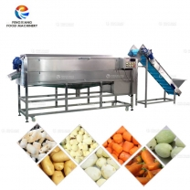 LXTP-5000 Root Vegetable Large Capacity Potato Washing and Peeling Machine