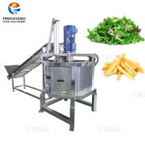 Continuous Automatic Potato Chips Leaf Vegetable Dewatering Machine