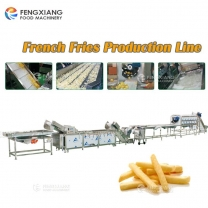 Automatic Industrial Potato French Fries Making Machine Production Line