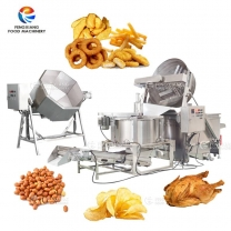Industrial Food Seasoning Mixing Machine Frying De-oiling Machine Production Line