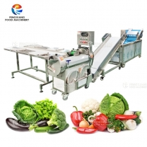 Vegetable Selecting Cutting Washing Machine Salad Processing Line