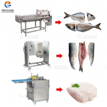 Fish Head Cutting Filleting Machine Scales Removal Peeling Machine