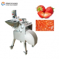 CD-800 Automatic Fruit and Vegetable Strawberry Cube Cutting Dicing Chopping Machine