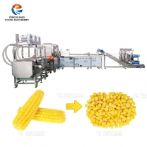 Industrial Sweet Corn Processing Line for Threshing Blanching Washing Dewatering Machine