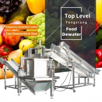 Fengxiang Continuous Vegetable and Fruit Spin Centrifugal Dewatering Machine with Conveyor