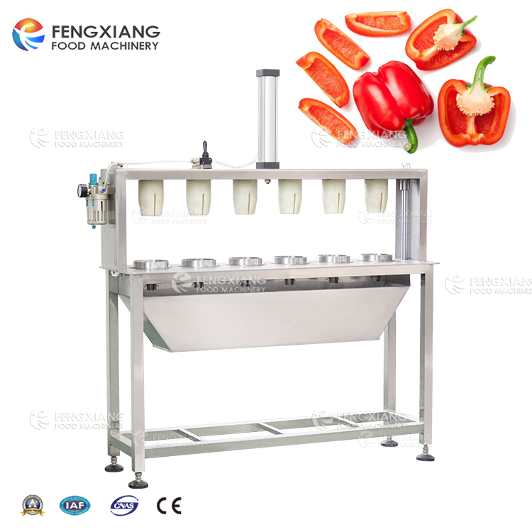 Automatic Vegetable Coring and Splitting Machine