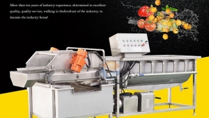 Vortex type vegetable washing machine-360° cleaning of vegetables and fruits