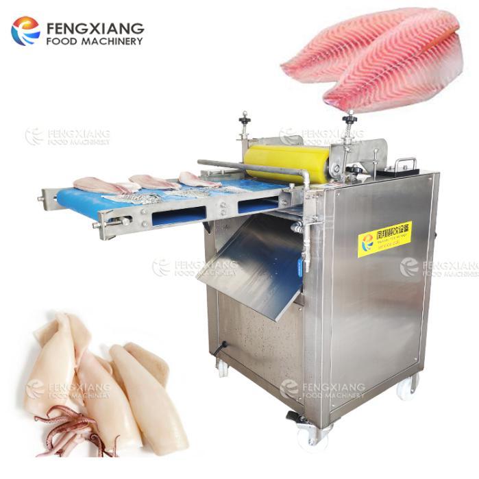 Squid peeling machine