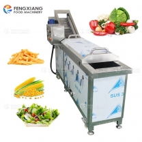 Small Automatic Vegetable Blanching Machine Cabbage Potato Chips Boiling Equipment