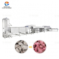 Sweet Potato Washing and Air Dewatering Drying Machine Potato Cleaning Processing Line